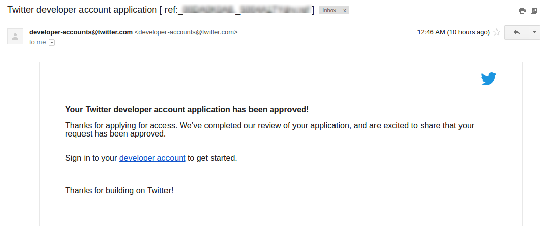 12-Twitter developer approved mail