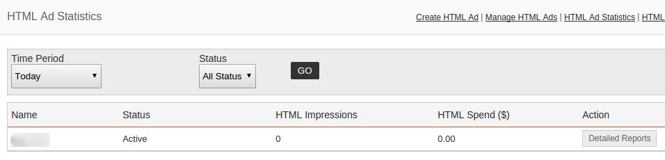 HTML Ad Statistics