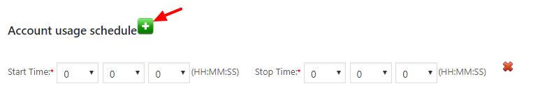 account usage schedule