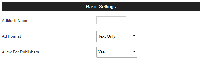 adblock basic settings