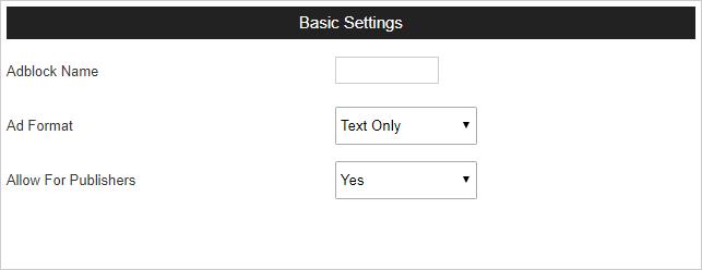adblock basic settings