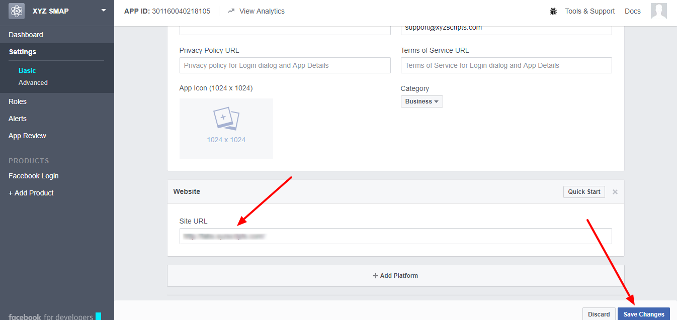How can I create Facebook application? | XYZScripts Help
