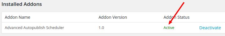addon active