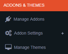 addons and themes