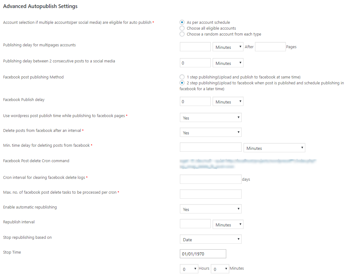 advanced autopublish settings