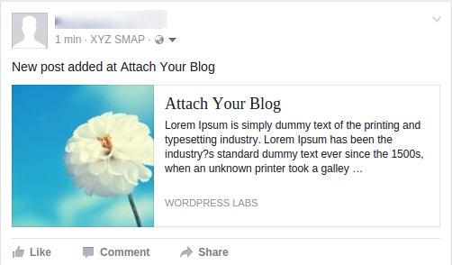 attach your blog