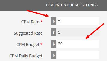 cpm budget