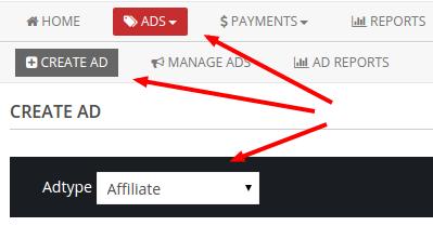 create affiliate ad