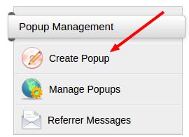 create popup