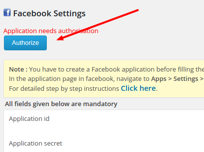 fb authorization