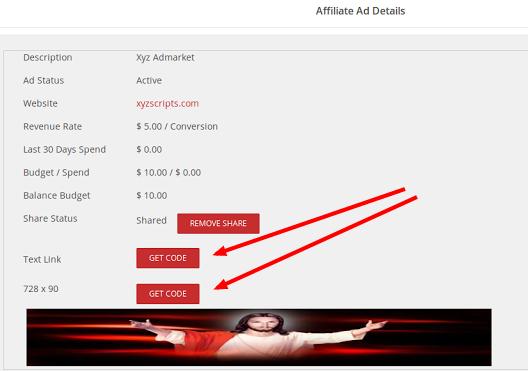 get code affiliate ad