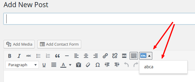 html snippet dropdown