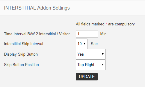interstitial addon settings