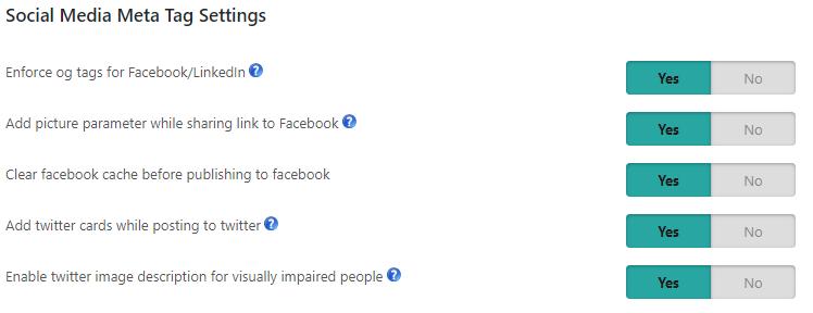 meta tag settings
