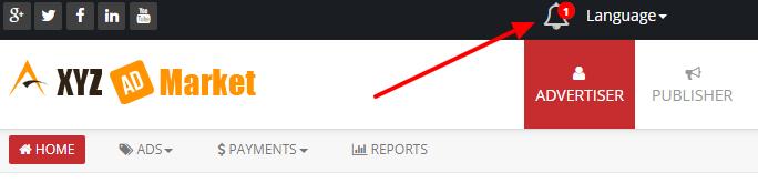 new notification symbol