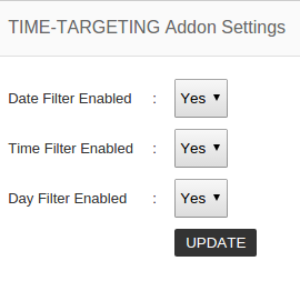 time targeting addon settings