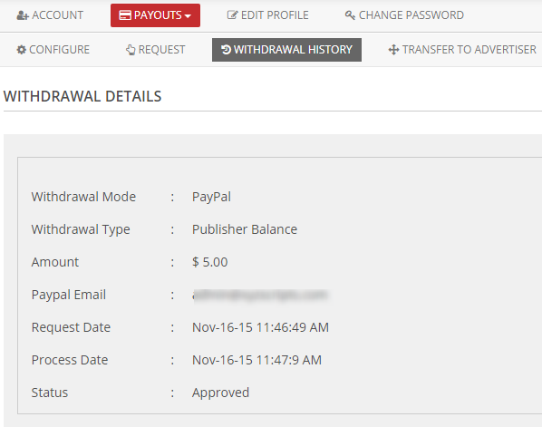 withdrawal details