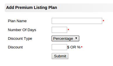 add premium listing plans
