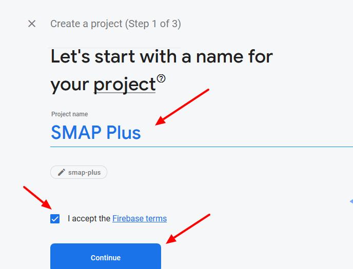 firebase- create project 2