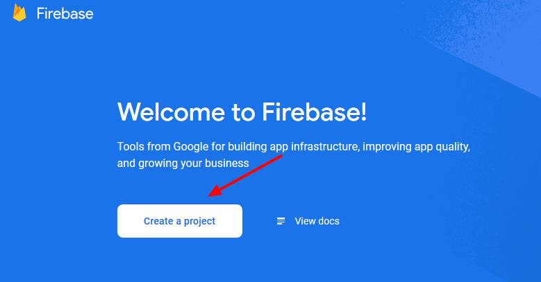 firebase- create project