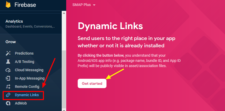 firebase- dynamic links