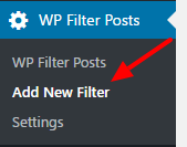 add new filter menu