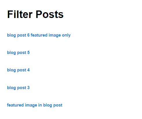 filter posts