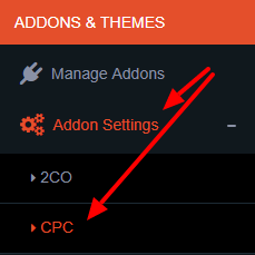 cpc addon settings