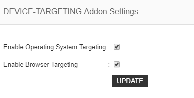 device targetting settings