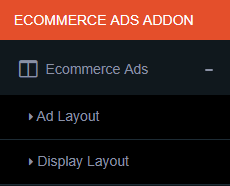 ecommerce ads menu
