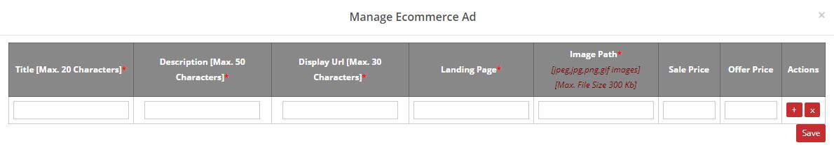 manage ecommerce ad