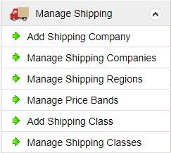 manage shipping
