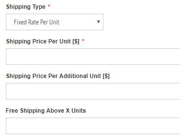 fixed rate per unit