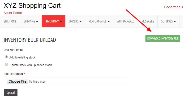 inventory upload