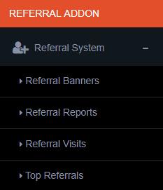 referral addon menu