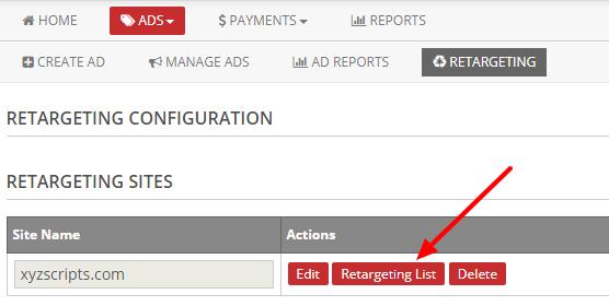 retargeting list