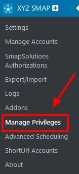 manage privileges