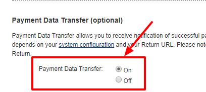 payment data transfer