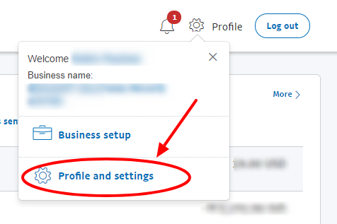 profile and settings
