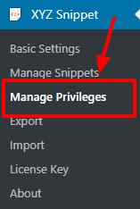 manage privileges