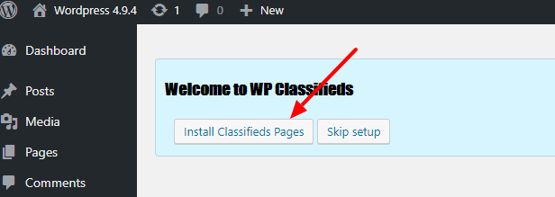 install classifieds pages