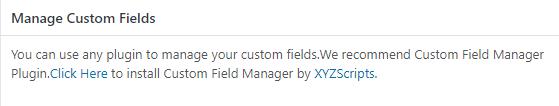 manage custom fields