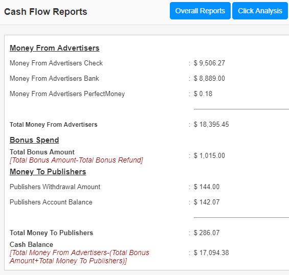 cash flow reports