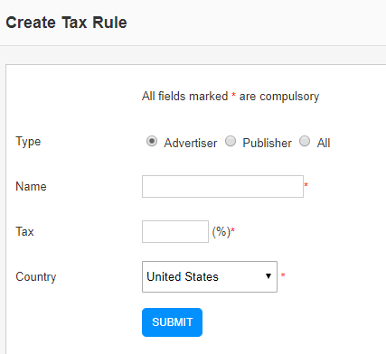 create tax rule