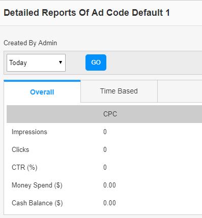 default adcode details