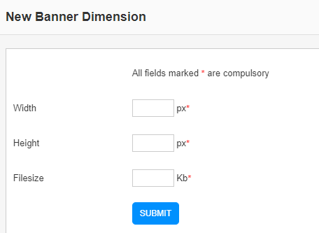 new banner dimension