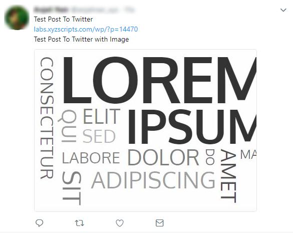 Twitter publish