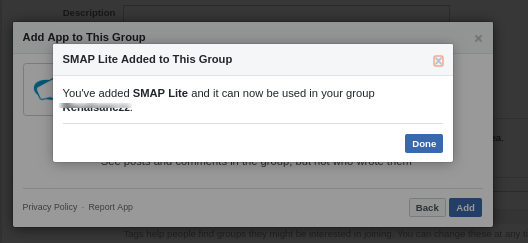 Installing app on group5
