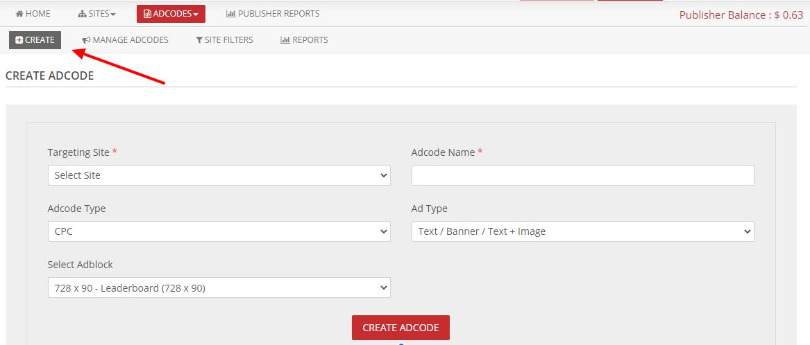 create adcode